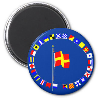 "Romeo ""R"" Nautical Signal Flag Magnet"