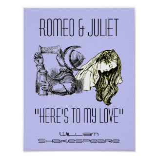 Romeo Toast To Juliet Poster Shakespeare Festival