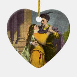 Romeo y Juliet Adorno Navideño De Cerámica En Forma De Corazón