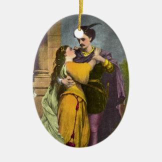 Romeo y Juliet Adorno Navideño Ovalado De Cerámica
