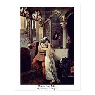 Romeo y Juliet de Francesco Hayez Postales