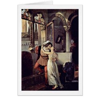 Romeo y Juliet de Francesco Hayez Tarjeta De Felicitación