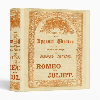 "Romeo y Juliet de Henry Irving Carpeta 1"""