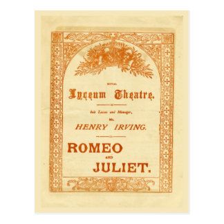 Romeo y Juliet de Henry Irving Postales