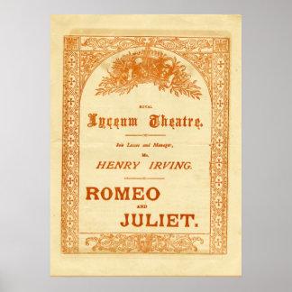 Romeo y Juliet de Henry Irving Póster