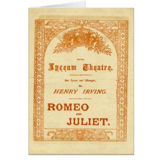 Romeo y Juliet de Henry Irving Tarjeta De Felicitación