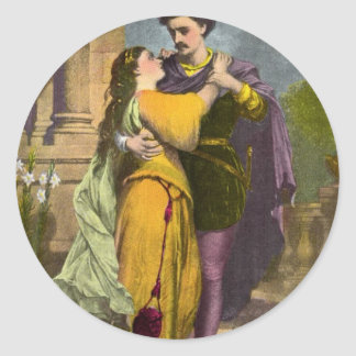 Romeo y Juliet Pegatina Redonda