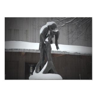 """Romeo y Juliet, un abrazo del invierno, Central Invitación 5"""" X 7"""""""
