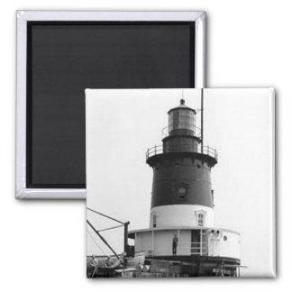Romer Shoal Lighthouse 2 Inch Square Magnet