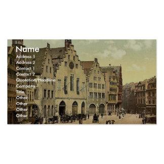 Romerberg with Romer, Frankfort on Main (i.e. Fran Business Cards