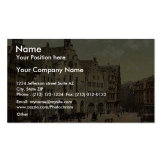 Romerberg with Romer, Frankfort on Main (i.e. Fran Business Card Templates