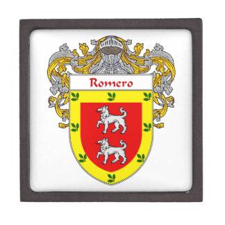 Romero Coat of Arms/Family Crest Keepsake Box