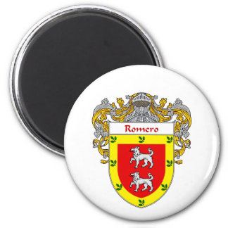 Romero Coat of Arms (Mantled) Magnet