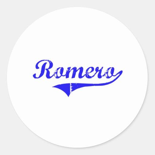 Romero Surname Classic Style Classic Round Sticker