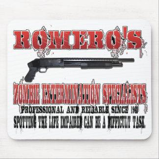Romero's Zombie Extermination Specialists Mouse Pad
