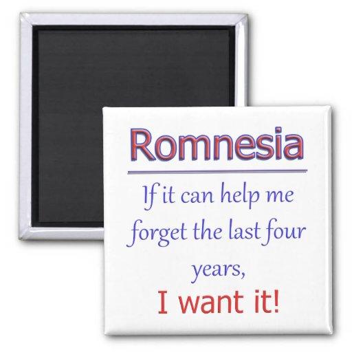 Romnesia - ayúdeme a olvidar imán cuadrado