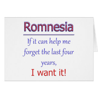 Romnesia - Help Me Forget Card