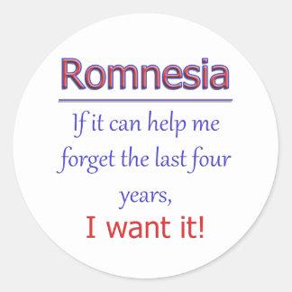 Romnesia - Help Me Forget Classic Round Sticker