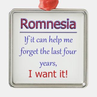Romnesia - Help Me Forget Metal Ornament