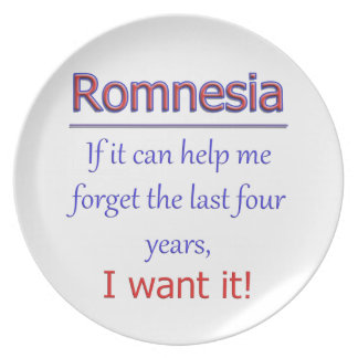 Romnesia - Help Me Forget Plate
