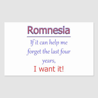 Romnesia - Help Me Forget Rectangular Sticker