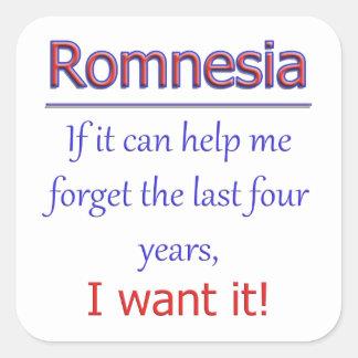 Romnesia - Help Me Forget Square Sticker