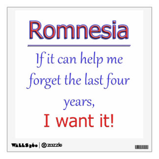 Romnesia - Help Me Forget Wall Sticker