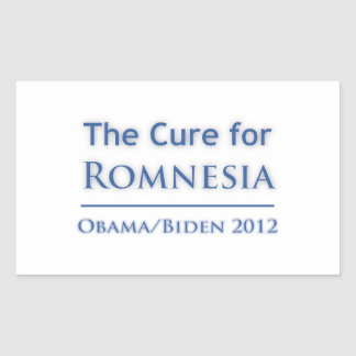 Romnesia - Obama is the Cure! Rectangular Sticker