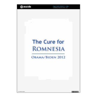 Romnesia - Obama is the Cure! Skin For The iPad 2