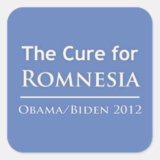 Romnesia - Obama is the Cure! Square Sticker