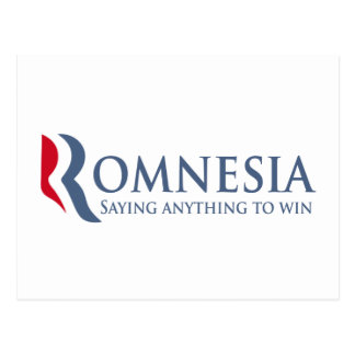 Romnesia - Saying Anything To Win Postcard