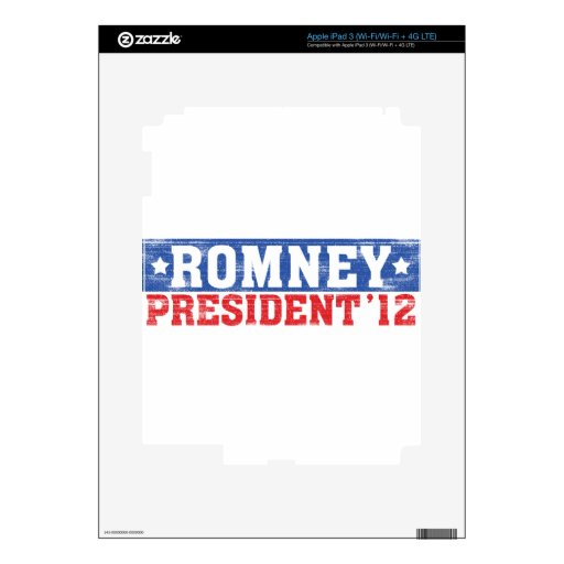 Romney'12 iPad 3 Skin