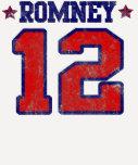 Romney '12, diseño del deporte del equipo universi camiseta