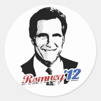 Romney '12 pegatinas redondas