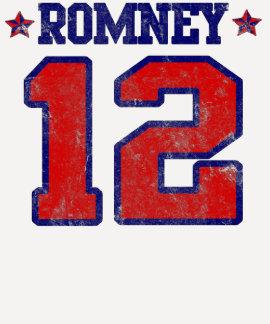 Romney '12, Varsity Sport Design, Mitt Romney T-Shirt