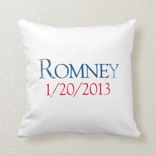 ROMNEY 1-20-2013.png Throw Pillows