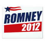 ROMNEY 2012 4.25X5.5 PAPER INVITATION CARD