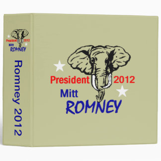 Romney 2012 Avery Binder
