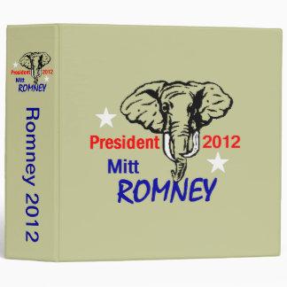Romney 2012 Avery Binder