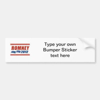ROMNEY 2012 BANNER BUMPER STICKER