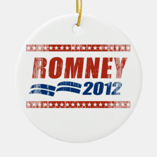 ROMNEY 2012 BANNER.png Double-Sided Ceramic Round Christmas Ornament