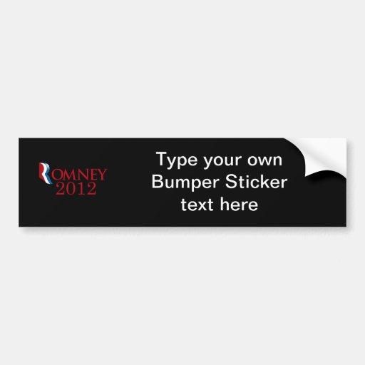 Romney 2012 - Believe in America Car Bumper Sticker