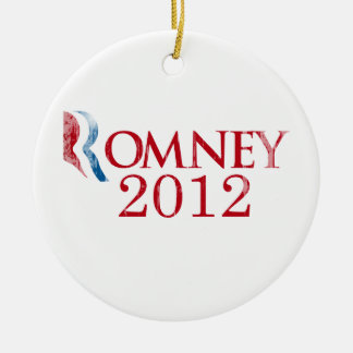 Romney 2012 - Believe in America.png Double-Sided Ceramic Round Christmas Ornament