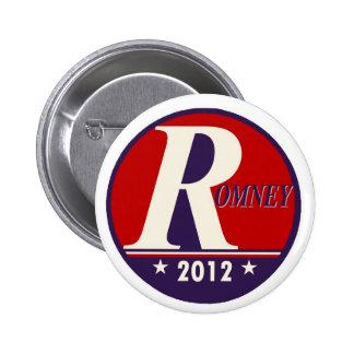 Romney 2012 Big R Buttons