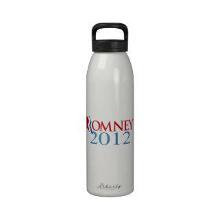 ROMNEY 2012 BLUE.png Reusable Water Bottles