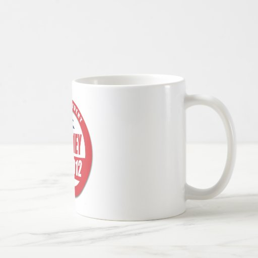 Romney 2012 button classic white coffee mug
