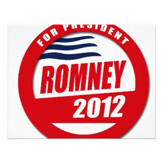 Romney 2012 button custom invite