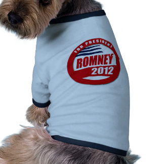 Romney 2012 button dog tee shirt