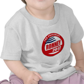 Romney 2012 button tee shirts