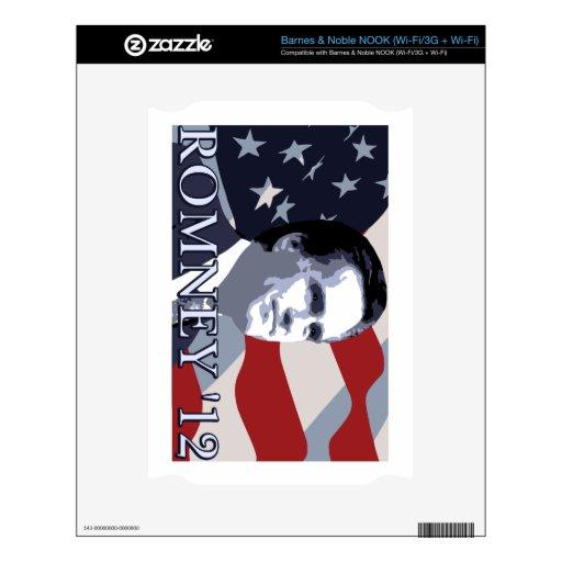 Romney 2012 calcomanía para el NOOK